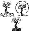 stylized tree with text vector image