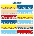 Summer flat web banners vector image
