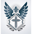 Vintage design element Retro style label heraldry vector image
