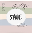Sale banner graphic style pastel coloe brush vector image vector image