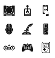 Game icons set simple style vector image
