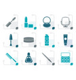 stylized cosmetic and make up icons vector image vector image