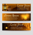 shining arabic banners template vector image