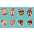 Christmas stikers vector image vector image