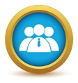 Gold leader of the team icon vector image
