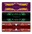Triangle geometric abstract background vector image