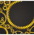 golden frame gears vector image vector image