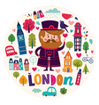 London symbols vector image vector image