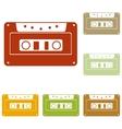 Cassette icon audio tape sign vector image