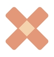 crossed bandaid icon vector image