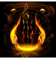abstract background musical instruments vector image