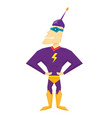 funny comic super hero vector image