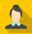 new female avatar icon flat vector image