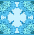 seamless texture with patterned mandala and vector image