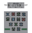 set of celtic capital letters vector image