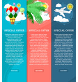 Colorful vertical banners on the theme of travel vector image