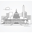 Linear of Washinton DC US Flat one vector image