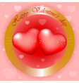 Happy Valentines Day gold and red background vector image vector image