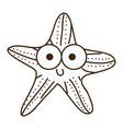 figure happy star cartoon icon vector image