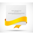 Card with orange ribbon vector image