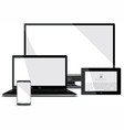 Screens Collection - Smart Phone Laptop Tablet vector image