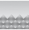 brushed metal mosaic background vector image vector image