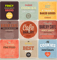 Retro Bakery Label Set vector image
