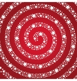 Spiral of the stars on a red background vector image