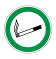 Sign place for smoking 606 vector image