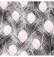Beautiful seamless pattern with white vector image