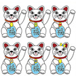 Chinese lucky cat vector image