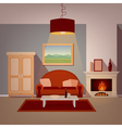 Modern Home Interior of Living Room vector image