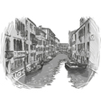 Venice canal sketch vector image