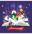 Fairy tale book vector image