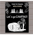 chalk board invitation in the Camping Lettering vector image