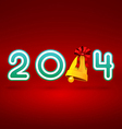 image with a Christmas 2014 inscription on a red vector image vector image