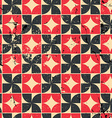 Vintage bright red and black geometric seamless vector image
