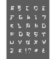 Japanese brush font font letters in japan vector image