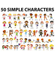 Fifty different type of people vector image vector image