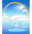 rainbow water and sunshine vector image vector image