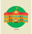 Classical school building icon vector image