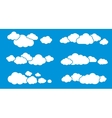 Clouds Isolated on Blue Clouds Collection vector image