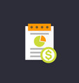 expense report icon flat style vector image
