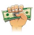 Money in people hand vector image