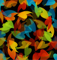 rainbow colored background with leaves vector image