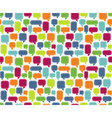 Seamless Comments Background vector image