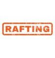 Rafting Rubber Stamp vector image