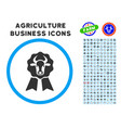 cow award seal rounded icon with set vector image