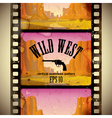 Western film strip vector image