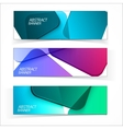 Abstract geometric headers vector image